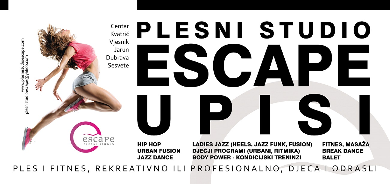 Upis 2018 2019 Plesni Studio Escape